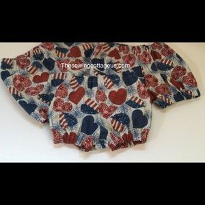 New 4th of July Baby Diaper Cover Red White Blue